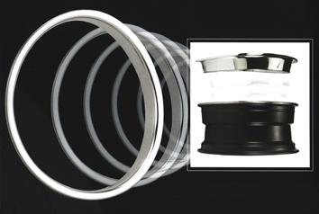 Stainless Steel Chrom Trim Ring Wheel Chrome Trim Rim